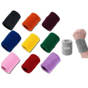 Cotton Terry Cloth Wristbands Athletic Sweatband